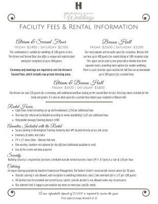 wedding-facility-fees
