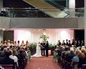 Harbert Center Wedding Ceremony Atrium