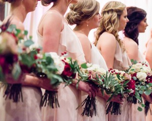 Harbert Center Ceremony Bridesmaids