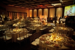 Gold and White Wedding Reception in Beeson Hall