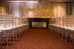 Silver and Yellow Ceremony in Atrium